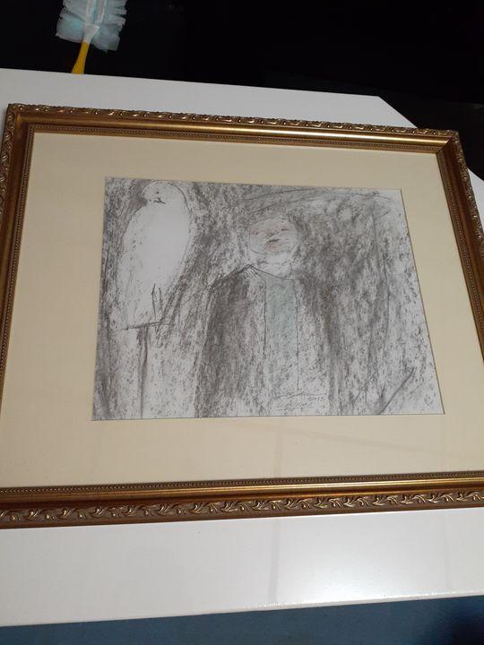 White Bird 11x14 framed signed - Lawrence Beaver Gallery