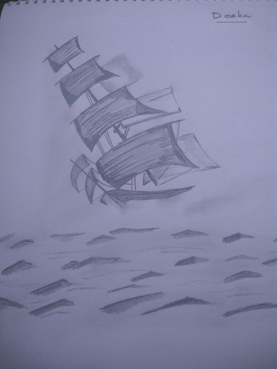 A boat in a sea - My collections