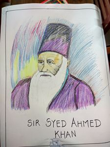 A portrait of SIR SYED AHMED KHAN