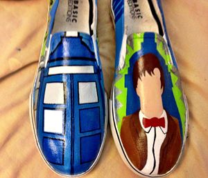 Doctor Who hand painted shoes - Window Jackie