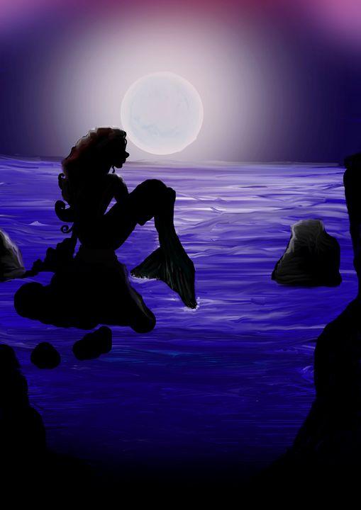 Moon Blue Mermaid - Be Victorious Creative Media