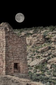 Moon Over Hovenweep - Nena Trapp Photography
