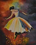 Ballerina Oil on canvas