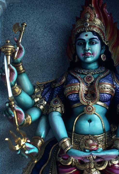 Hindu Goddess Kali on Hindu Temple - Carl Purcell - Global Photography