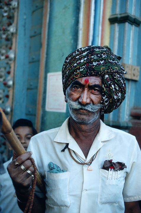 brahmin man with moustache - Carl Purcell - Global Photography