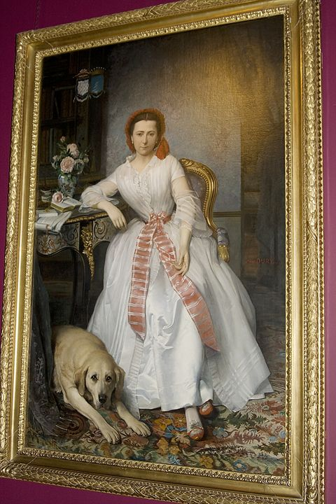 Portrait of Mary Bowes with dog - Carl Purcell - Global Photography