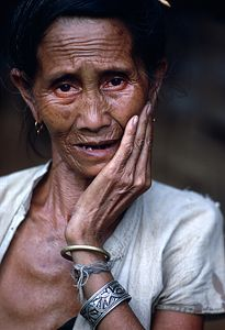 Elderly Woan in Laos - Carl Purcell - Global Photography