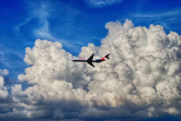 Jetliner & Clouds - Carl Purcell - Global Photography