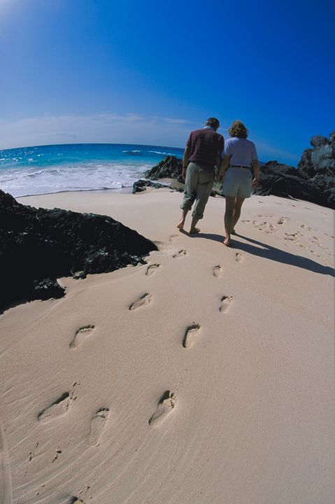 Footprints on a Bermuda Beach - Carl Purcell - Global Photography