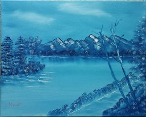 Blue Winter Lake