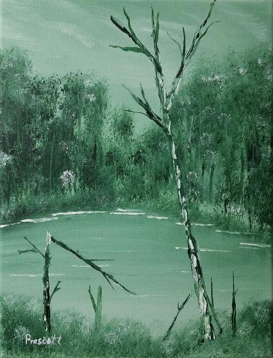 Green Pond - Art by Vern