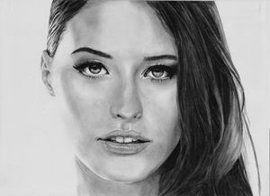 A4 custom pencil portrait