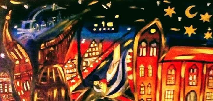 Night over Old City - Georg Kiehn