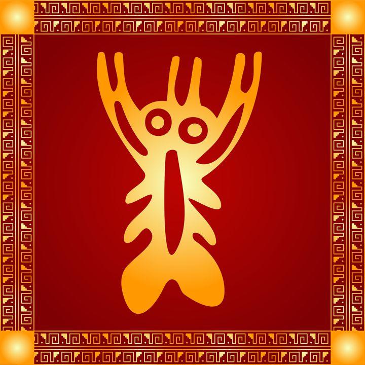 American indians and Maya symbol - tillhunter