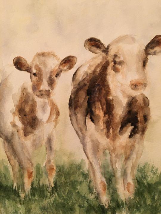 Grazing Cows - Alice DiGiovanni