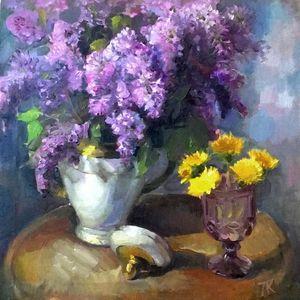 Still life with lilacs