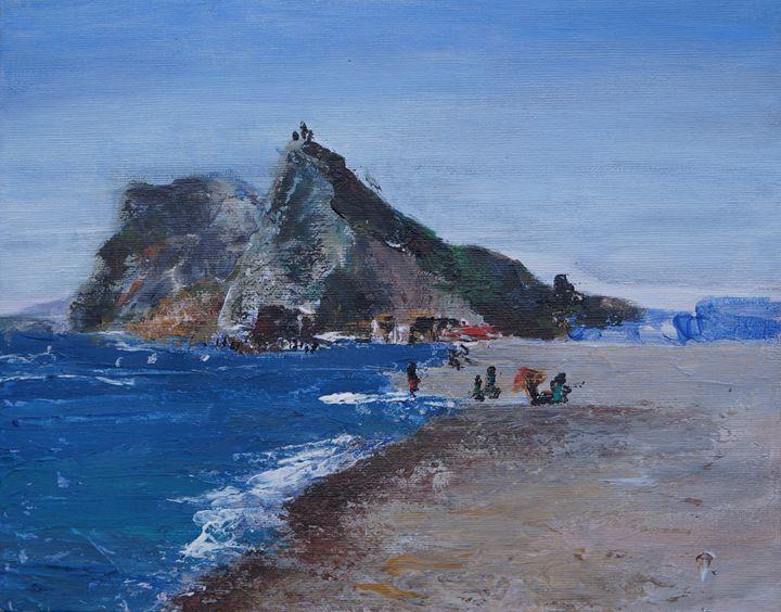 Gibraltar from Atunara beach - KameliArte