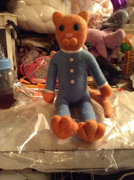 """Skinny Cat"" in pajamas - Lost Acre"