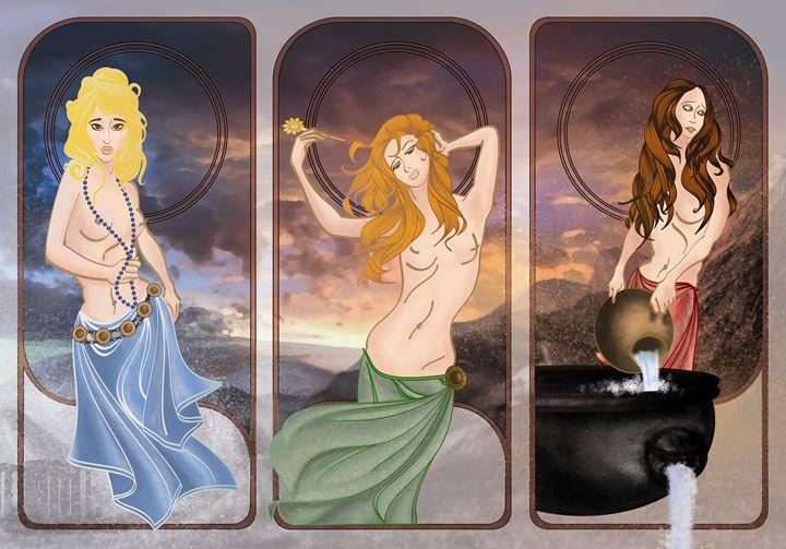 The Daughters of Danaus - Digital Art