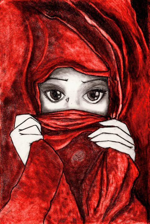 The Girl in red - Digital Art