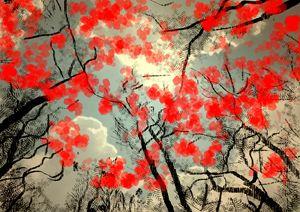 Red trees - Digital Art