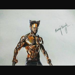relaistic drawing of wolverine.....