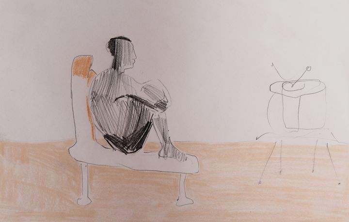Watching television - Neda Krstic