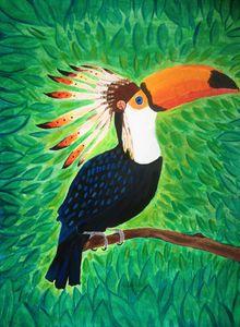 Toucan plumé