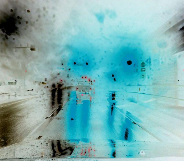 Blue Night Drive - Sabaya Art