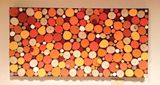 "18""x47"" Orange Crush Sliced Wood Art"