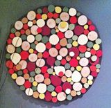 "24"" Autumn Sliced Wood Wall Art"
