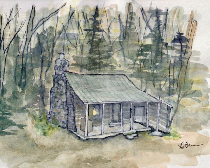 Corbin Cabin on the AT, Shenandoah - Diane Messer Gallery