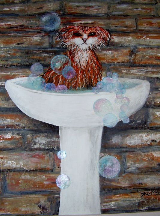 """Bathing Bernie"" - Dagmar's Gallery"