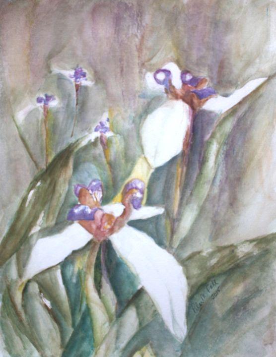 Irises in the Garden - Pilar Fall