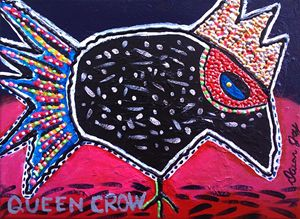 Queen Crow - Dawn Joy Whimsical Artist