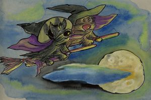 Flying Scottie Witches