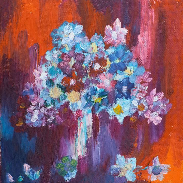 Blue flowers - Red_Drago