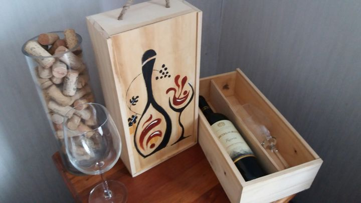 wine and art - decocajas