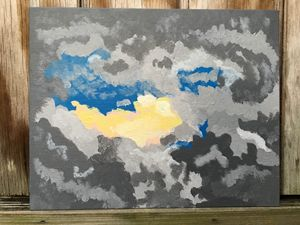 Sunrise Fox Acrylic Painting