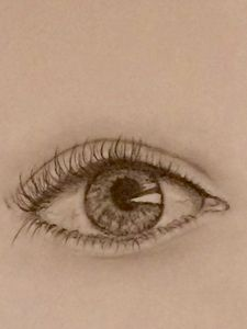 Eye pencil drawing