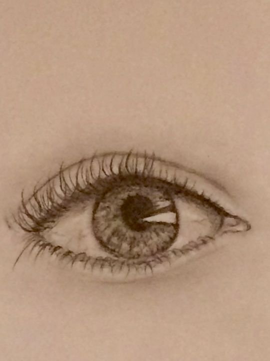 Eye pencil drawing - Izzy