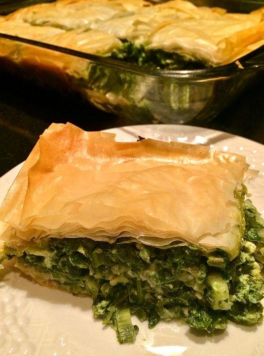 Spinach Pie Spanakopita Greek - Nancy Kensill-Grubb