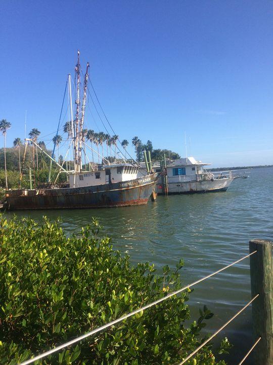 Old  Fishing Boats - Nancy Kensill-Grubb