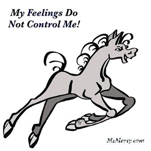 My feelings do not control me
