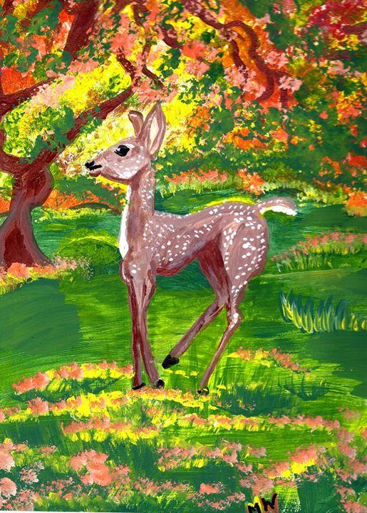 Fall Deer - MzMarty.com