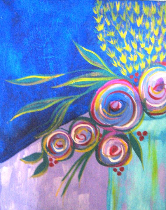 Flowers in Glass - Melody Recktenwald