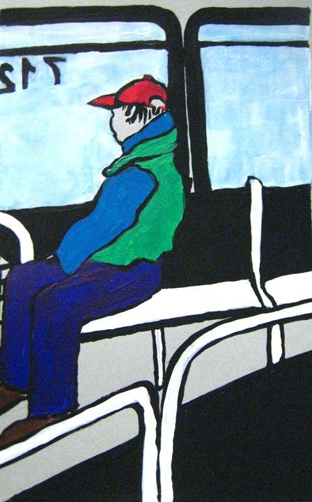 Man on Bus - Melody Recktenwald
