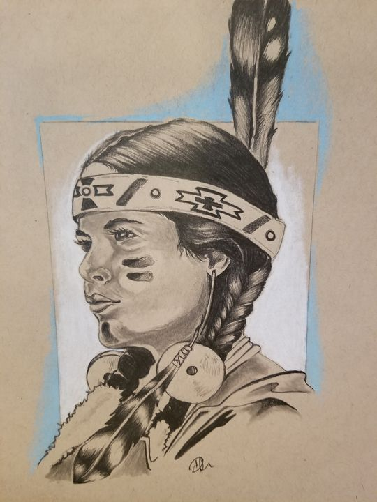 Indian Portrait Lifesthings Drawings Illustration