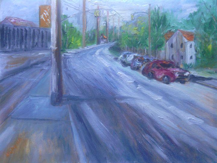TARGEE STREET-16X20-OILS - NORUWA ARTS