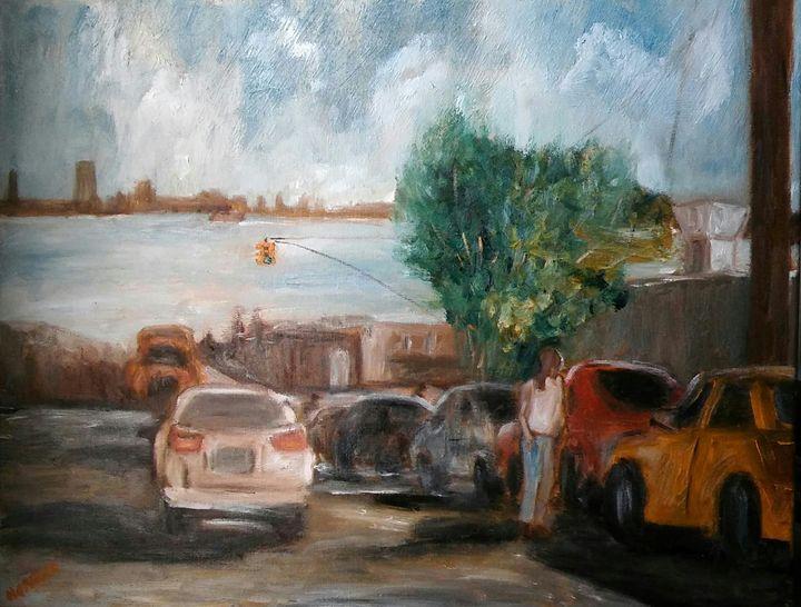 HILLY STREET-16X20-OILS - NORUWA ARTS
